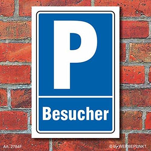 Schild Parken, Parkplatz, Besucher, 3 mm Alu-Verbund 300 x 200 mm