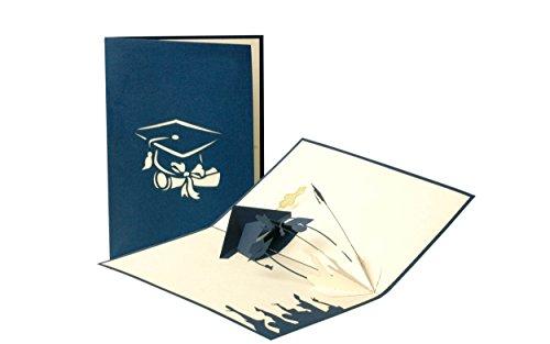 C11 Graduation Karte, Examen, Glückwunsch, Geschenk, Bachelor, Master, Pop-Up Karte