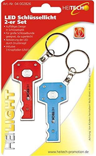 Heitech 04002826 LED Schlüssellicht 2er Set bunt