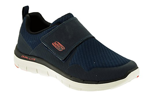 Skechers Flex 2.0 Vorteil Gurn Mens Mesh Trainer 9 UK/ 43 EU Navy/Red